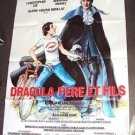 DRACULA and Son Original HAMMER Films HORROR Huge FRENCH Poster  CHRISTOPHER LEE