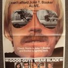 CHUCK NORRIS Original GOOD GUYS WEAR BLACK 1-Sheet Movie POSTER Martial Arts