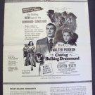 CALLING BULLDOG DRUMMOND Pressbook WALTER PIDGEON  1951
