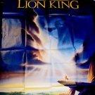 LION KING Original Huge FRENCH Walt Disney Movie POSTER Simba SCAR Poster COLOR!
