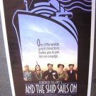 Federico FELLINI e la nave va AND THE SHIP SAILS ON Original Rolled MOVIE POSTER