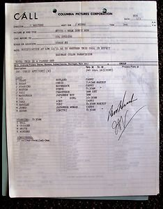WALK DON'T RUN Original Shooting CALL SHEET Jim Hutton CARY GRANT Samantha Eggar