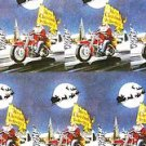 MOTORCYCLE Gang SANTA CLAUS Toy Run USA Artwork GIFTWRAP Print PAPER Harley ?