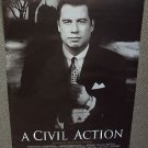 JOHN TRAVOLTA a CIVIL ACTION Original Rolled Double Sided Movie Poster 1998