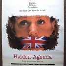 HIDDEN AGENDA Original Rolled Movie Poster FRANCES McDORMAND Brian Cox 1990