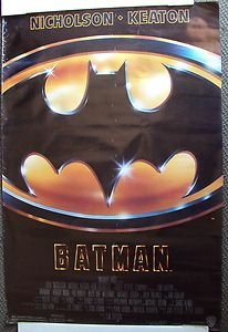 BATMAN  ORIGINAL Movie Poster TIM BURTON Jack Nicholson  MICHAEL KEATON 1989