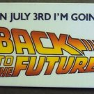 BACK TO THE FUTURE Original PINBACK Button PROMO Pin MICHAEL J FOX  Marty McFly