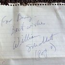 WILLIAM SCHALLERT Original Signed in PERSON Autograph PAGE Patty Duke Show DAD