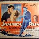 JAMAICA RUN 1/2- Sheet Original Movie Poster RAY MILLAND Arlene Dahl VINTAGE old