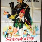 Gérard Barray The  Adventures of SCARAMOUCHE Huge ITALIAN Movie POSTER 1963