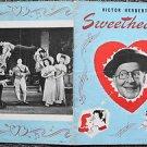 VICTOR HERBERT 's SWEETHEARTS Original THEATRE Program BOBBY CLARK Paula Stone