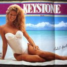 RACHEL HUNTER Original SWIMSUIT Keystone BEER Advertising POSTER Bathingsuit '91