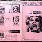BETTE DAVIS The ANNIVERSARY Uncut PRESSBOOK 20th FOX PHOTO Synopsis ADVERTING