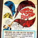 RING-A-DING RHYTHM Original 1-Sheet Movie  POSTER Chubby Checker 1950s