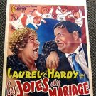 LAUREL & HARDY Original  BELGIUM Poster TWICE TWO Hal Roach STAN & OLLIE 1933