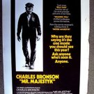 CHARLES BRONSON Elmore Leonard Original MR. MAJESTYK Movie DRIVE-IN  Poster 1974