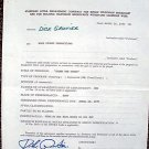 DICK GAUTIER Original SIGNED in PERSON Game Show Contract  GET SMART Stump Stars