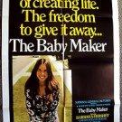 BARBARA HERSHEY The BABY MAKER Original 1-SHEET Poster Collin Wilco-Horne 1970