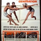 WILLIAM SHATNER The EXPLOSIVE GENERATION 1-Sheet Movie POSTER Patty McCormack 61