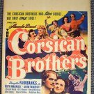 CORSICAN BROTHERS Original DOUGLAS FAIRBANKS Jr WINDOW CARD POSTER Ruth Warrick