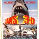 JAWS 3-D Advance Teaser Promo POSTER Universal SHARK 1983 Early 3 Dimensional