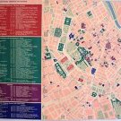 VIENNA Original AUSTRIA Europe Road Map Linen-Backed 1960's  European Cultural
