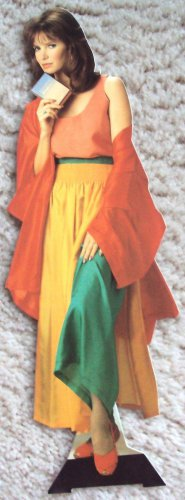 "JACLYN SMITH Promo PERFUME Figure 12"" CHARLIE'S ANGELS California Standee-Mini"