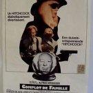 ALFRED HITCHCOCK Original FAMILY PLOT Karen Black BELGIUM Poster BRUCE DERN 1977