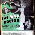 BASIL RATHBONE The MAD DOCTOR Pressbook ELLEN DREW John Howard 1940 PARAMOUNT