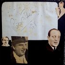 RICHARD TAUBER Original  SIGNED in  PERSON Autograph Page from 1940's SCRAPBOOK