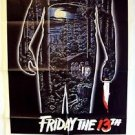 FRIDAY THE 13th Original 1- Sheet Movie POSTER Jason THIRTEENTH Kevin Bacon 1980