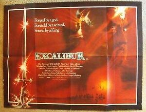 EXCALIBUR Original UK Quad British POSTER NIGEL TERRY Helen Mirren Cult Fantasy
