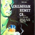 CALLAGHAN REMET CA Original FRENCH Movie Poster TONY WRIGHT Willy Rozier FRANCE