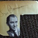 LEE BOWMAN  Original SIGNED in PERSON Autograph Page 1930's