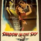 SHADOW IN THE SKY Original 1-Sheet Movie Poster NANCY REAGAN Davis RALPH MEEKER