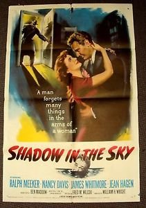 SHADOW IN THE SKY Original 1-Sheet Movie Poster NANCY REAGAN Davis RALPH MEEKER