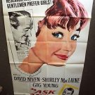 SHIRLEY MacLAINE Original ASK ANY GIRL Gig Young HUGE 3-Sheet Movie Poster GIANT