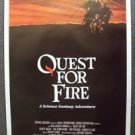 QUEST FOR FIRE Original  DRIVE-IN  Poster DARRYL HANNAH Caveman Rae Dawn Chong