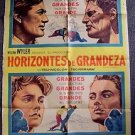 BIG COUNTRY Spanish 1-SHEET Poster GREGORY PECK Jean Simmons CARROLL BAKER 1958