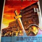 KING OF KINGS Original JEFFREY HUNTER Huge 1961 FRENCH Poster FRANCE RIP TORN