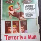 TERROR IS A MAN Original 1-Sheet Movie Poster 1959 Sci-Fi HORROR Greta Thyssen