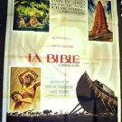 BIBLE in the BEGINNING Michael Parks JOHN HUSTON Huge 1966 FRENCH Poster FRANCE