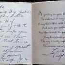 TIGER JOE MARSH Autograph Signed BIRTHDAY CARD to HEDDA HOPPER Wrestler ESTATE