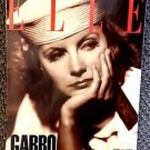 GRETA GARBO April 1990 French ELLE Magazine CATHERINE DENEUVE Letter from Editor