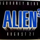 ALIEN 3 British UK Quad POSTER Sigourney Weaver 1992 Original ENGLAND Sci-Fi