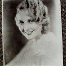 THELMA TODD Reproduction PORTRAIT Photo AUTOGRAPH Facsimile HAL ROACH Blond Star