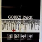 GORKY PARK Original 1-SHEET Movie POSTER Orion WILLIAM HURT Lee Marvin MOSCOW 83