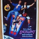 BILL & TED'S EXCELLENT ADVENTURE Rolled MOVIE Poster KEANU REEVES Original 1989