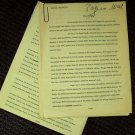 WILL ROGERS Short STORY Document TRIBUTE Irwin R Franklyn 1965 with NOTATIONS