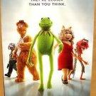 MUPPETS Movie POSTER Miss Piggy KERMIT Frog ANIMAL Foozie Bear DISNEY Original